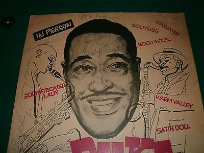 Duke Ellington Original Concert Poster Signed By Band! Very Rare!