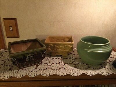 Lot of 3 Vintage Vases & Planters - all unmarked but in very good conditon