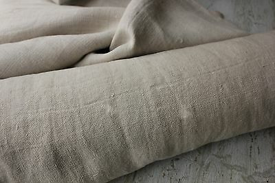 Vintage  European WASHED Linen 15.5YDS material TIMEWORN old cloth CUTTER