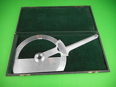 """Union Instr. Corp. Plainfield N.J. 8"""" Protractor U.S. Great Condition"""