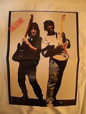 Guitar World Double Sided Poster Stevie Ray Vaughns Guitar & Jeff Beck Unused!