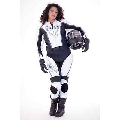 FREE NAME/LOGOS Ladies Motorbike Leather Suit Motorcycle Women Any Size/Colour