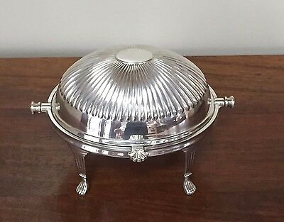 Antique William Adams Silver Revolving Dome Butter Dish Sheffield England