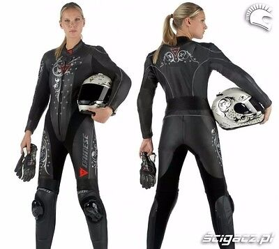 FREE NAME Ladies Motorbike Leather Suit Motorcycle Women Any Size/Colour
