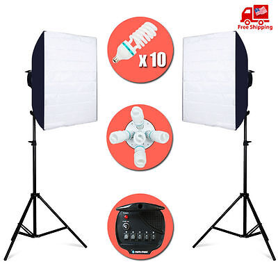 Continuous Photo Studio Softbox Video Light Photography Lighting Bulb Lamp Kit