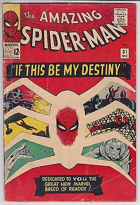 Amazing Spider-Man #31 G-VG 3.0 First Appearance Of Gwen Stacy Steve Ditko Art!