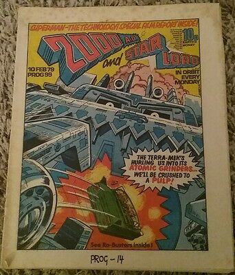 2000AD Comic Progs 99 from 10 Feb 1979