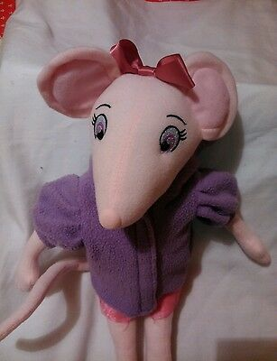 Official Angelina   Ballerina 17 Inch, With Purple Coat.