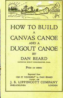 Copy Of Boy Scout Manual 1920 How To Build Canvas Canoe And Dugout Canoe #481