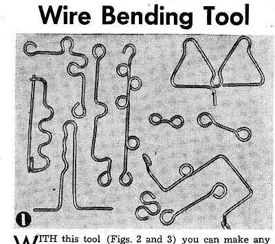 Make Wire Bending Tool Bend Wire Pegboard Ornaments Tools Puzzles Jewellery #208