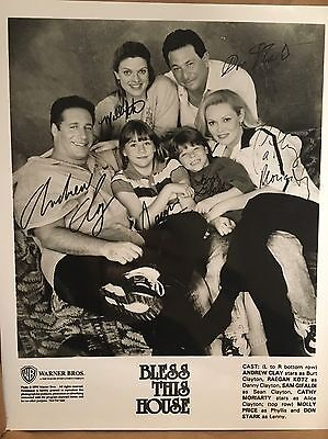 Bless This House ~ 8x10 Autographed Cast Photo~ Andrew Dice Clay, C. Moriarity