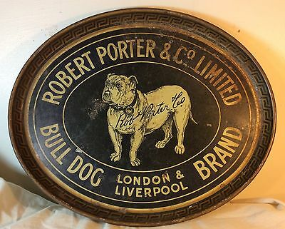 Bull Dog Brand Pre Prohibition Beer Tray Robert Porter Limited London Liverpool