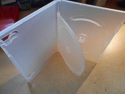 DVD / CD Replacement Case - Std 14ml Jewel Case - 2 Disc Holder Frosted / Silver