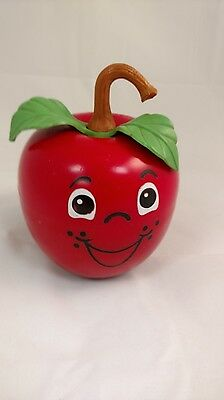 Vintage 1972 Fisher Price Long Stem Roly Poly Happy Apple