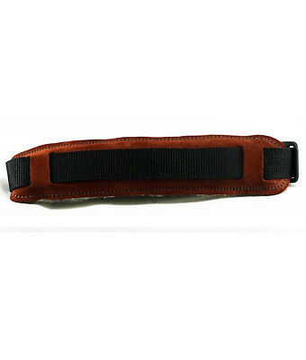 Saxophone Strap Rust Colour Suede Fleece Backed Hand Made In UK Genuine Suede