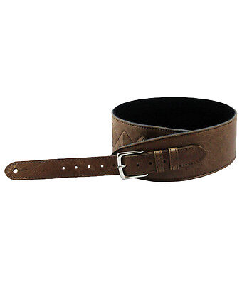 FAB Softy Guitar Strap Genuine Brown Leather By Leathergraft Hand Made In UK