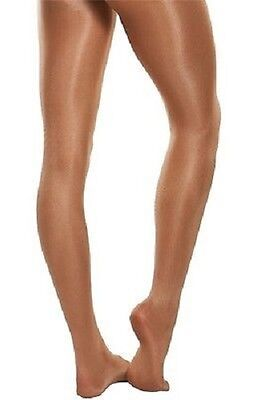 Body Wrappers C55 Toast Girl's Size Large (12-14) Ultimate Shimmer Footed Tights