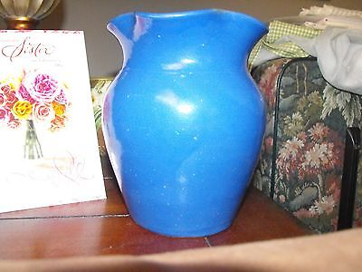 Antique Bybee Kentucky Blue Hand Turned Art Pottery VASE with Crimped Rim EC NR
