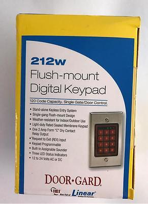 NEW Linear Door-Gard 212w Flush-Mount Digital Keypad 120 Code Capacity