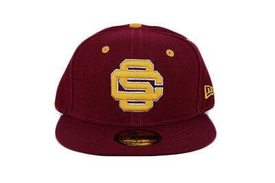 28faf682 NCAA USC TROJANS New Era Baseball Logo 59Fifty Fitted Hat - Cardinal ...