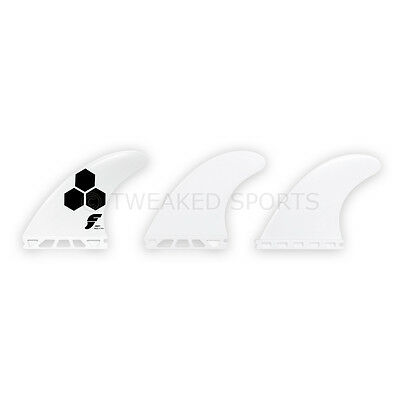 NEW Futures Fins AM1 Thermotech Surfboard Thruster Tri 3-Fin Set Medium - White