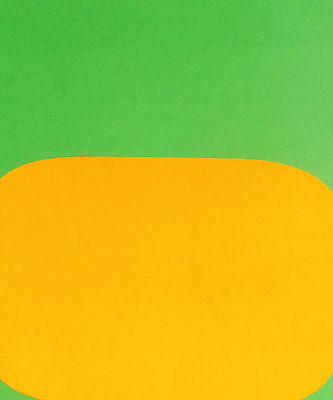 Ellsworth Kelly - Green And Gold - Original Lithograph - 1964 - Free Ship In Us