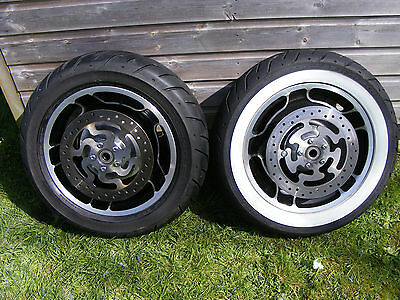 Genuine Harley Davidson Street Glide 2009 Front & Rear Wheels Incl Tyres & Discs