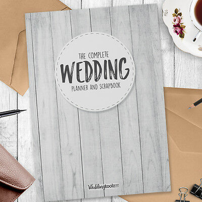 Wedding Planning  Journal - Wedding planner book white wood style planner