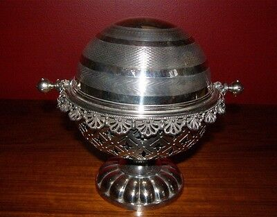 Antique Victorian Silverplate Domed Butter Dish