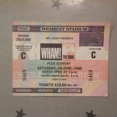 Wham The Final Concert 1986 Unused Ticket