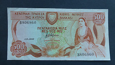 CYPRUS Banknote 500 mils B 806860 A/unc