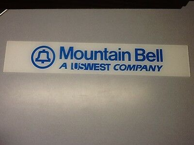 """Vintage Mountain Bell Phone Booth Sign Pay Phone Plexi Glass 25 5/8"""" x 4 1/2"""""""