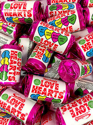 Mini LOVE HEART ROLLS Wedding Valentine Hen Favour Party Bag Retro Sweets 10-150