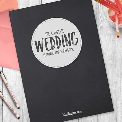 Wedding Planner Journal-  Wedding Planning diary Chalkboard Style Cover
