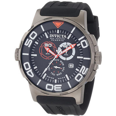 Men's Invicta Reserve Bolt Swiss Chronograph Grey Watch 1731 Preowned