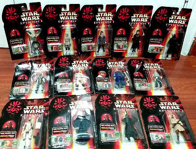 Coleccion Completa. Lote 13 Figuras Commtech Chip Star Wars Episode I. Bootleg
