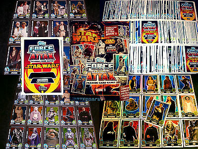 Topps FORCE ATTAX Star Wars MOVIE EDITION 3.Serie Collection Film Trading Card