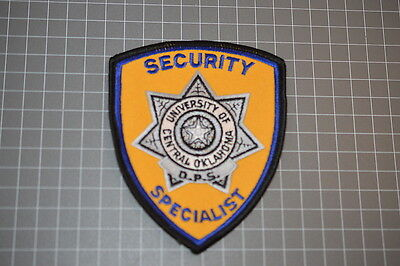 Univesity Of Oaklahoma Security Specialist Patch (T3)