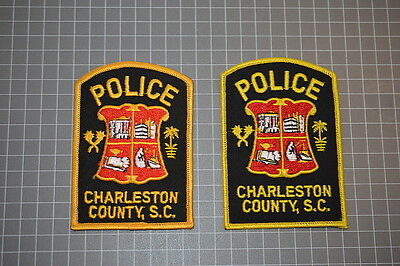 2 Diffferent Charleston County Police Department South Carolina Patches (B17)