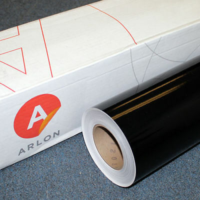 "Black Gloss Arlon 5000 (1) Roll 24"" X 10' Sign Cutting Vinyl"