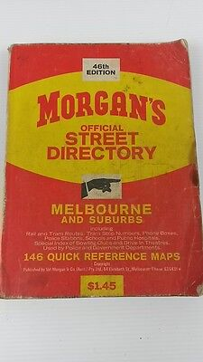 Vintage Morgans 46th edition map book Melbourne Street Directory