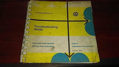 Volkswagen Type 4 Troubleshooting Guide, EFI, AFC, Automatic Transmission, 1974