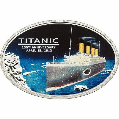 Titanic 100th Anniversary 99% Silver coin Embedded Piece of TITANIC ORGINAL COAL