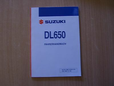 Driver's guide Suzuki DL 650 K5 2005 Operating instructions