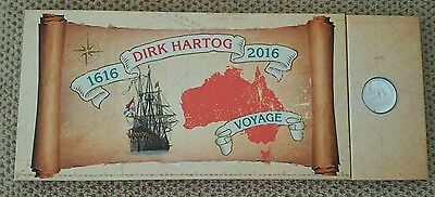 Rare #33 /120 DIRK HARTOG 2016 $1.00 Silver Coin & Stamp Folder Limited Edition