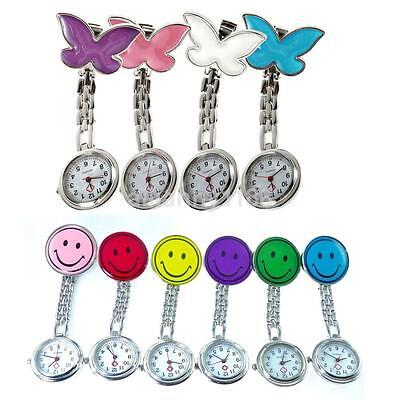 Colorful Nurse Clip-on Fob Brooch Pendant Hanging Fobwatch Pocket Watch NEW