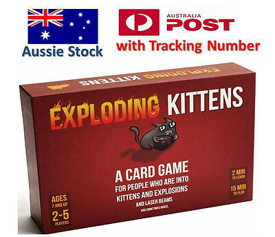 Exploding Kittens CARD GAME - ORIGINAL Edition - Aussie Version