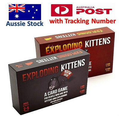 Exploding Kittens CARD GAME - ORIGINAL & NSFW Edition - Aussie Version