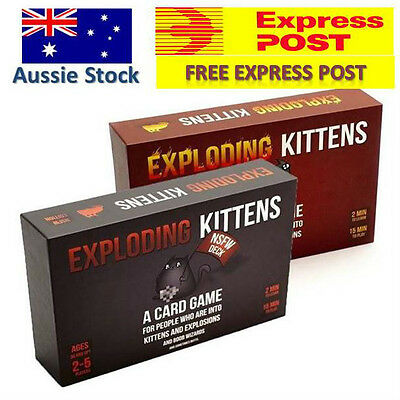 Exploding Kittens CARD GAME - Original / NSFW / Dual Pack - FREE EXPRESS Post