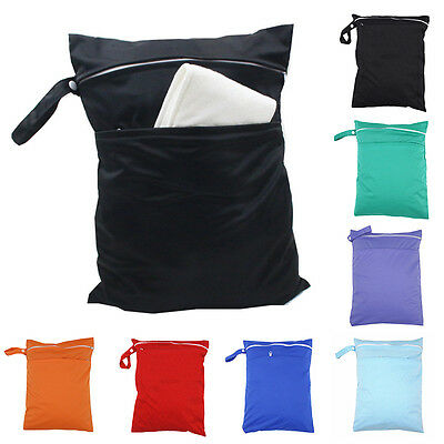 New Baby Waterproof Reusable Zip Cloth Diaper Nappy Wet Dry Bag Storage Pouch
